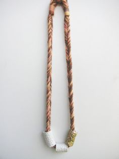 Chunky Cylinder Bead Necklace Desert by karibreitigam on Etsy