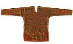 This rare and important 8th-century silk tunic with Arab inscription originating from Sogdiana, Central Asia