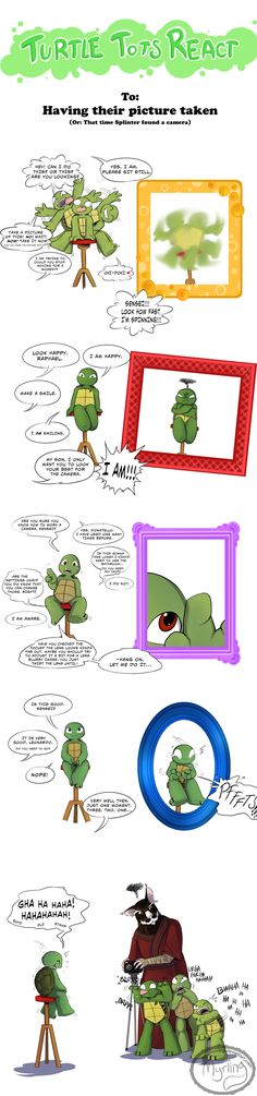 Turtle Tots React - Having their picture taken by Myrling.deviantart.com on @DeviantArt
