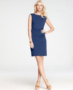 e66fd89b89a8 Tall Side Ruched Cap Sleeve Dress Kjoler Til Arbejde