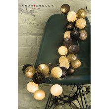 Cotton Ball Lights Taupe 50 kul