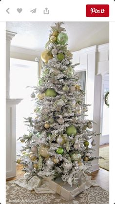 Love the lime green on this tree