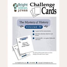 "The Mystery of History Volume IV ""Challenge Cards"""