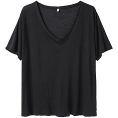R13 boxy v-neck tee TR134BSS13 ($123) ❤ liked on Polyvore featuring tops, t-shirts, shirts, tees, vneck shirts, boxy t shirt, v neck tee, boxy tee and v neck t shirts