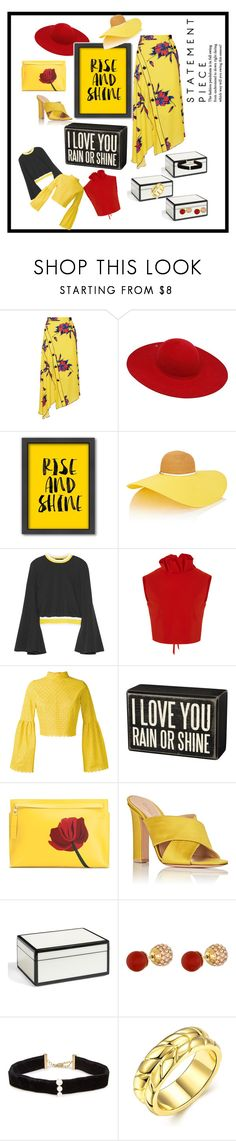 """""""That Skirt"""" by shamrockclover ❤ liked on Polyvore featuring Proenza Schouler, Ilariusss, Americanflat, Eugenia Kim, E L L E R Y, SemSem, Daizy Shely, Primitives By Kathy, Loewe and Gianvito Rossi"""