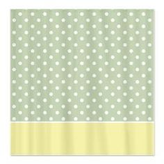 Light Green & Yellow Dotted Shower Curtain > White Dots > MarloDee Designs Shower Curtains