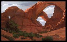 http://digitalpleinairsociety.com/2011/09/22/double-arch-moab/
