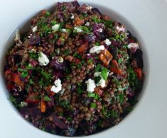 Roasted Beet & Carrot Lentil Salad with Tangy Orange Mustard Vinaigrette by jfhaugen