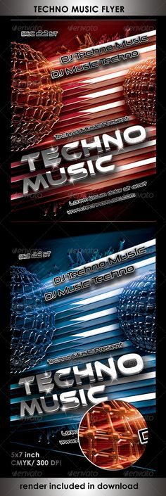 Techno Music Flyer Templates