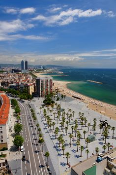 """Barcelona. The last day of our honeymoon-running late to the airport. Had to stop on this beach to get sand to bring home. """"What a Feeling"""" from Flashdance was blaring from the cab. Love. Those. MOMENTS. -SS"""
