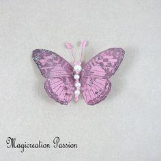 Magnet décoratif papillon soie rose +1 aimant , collection gallia - Un grand marché Moth, Insects, Montage, Dimensions, Magnets, Animals, Boutique, Collection, Pink Silk