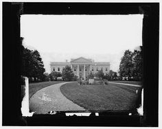 White House, earliest [sic] known view (made in 1860's) by Brady