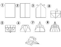 Paper airplane glider pattern by paperluigi99.deviantart.com on ...