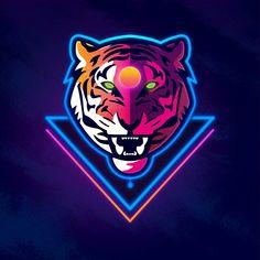Signalnoise :: The Work of James White - Trials of the Blood Dragon Logo Esport, Neon Logo, Logo Minimalista, Cool Illusions, Vaporwave Art, Tiger Logo, Game Logo Design, Esports Logo, Mascot Design