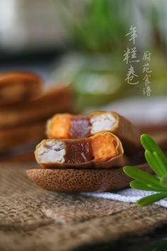 Get Chinese Food Appetiser Recipe Asian Snacks, Asian Desserts, Sweet Desserts, Malaysian Cuisine, Malaysian Food, Nian Gao Recipe, Chinese New Year Food, Chicken Spring Rolls, New Year's Food