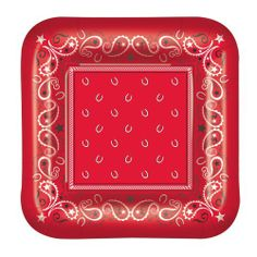 Bandana Plates (square-shaped) Party Accessory  (1 count) (8/Pkg) by The Beistle Company, http://www.amazon.com/dp/B004FR4PYG/ref=cm_sw_r_pi_dp_Ggrjsb02YVES2