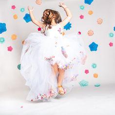 Floral Birthday Party - K&Elphy www.kandelphy.com Lets Celebrate, 4th Birthday, Ballet Skirt, Celebrities, Floral, Party, Fashion, Moda, Tutu