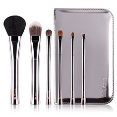 DUcare 6-Piece Copper Handle Goat Sable Natural Hair Makeup Brushes Set with Holder *** Learn more by visiting the image link.