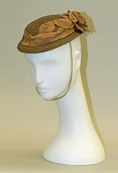 Hat: ca. 1860, American (probably), straw and ribbon.