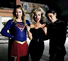 """""""yes, we are married"""" Melissa Benoist and Jenna Dewan-Tatum pose with Julianne Hough whilst visiting the Grease Live set in full costume, 29th January 2016"""
