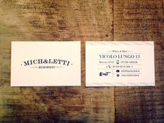 business card B&b Mich&letti