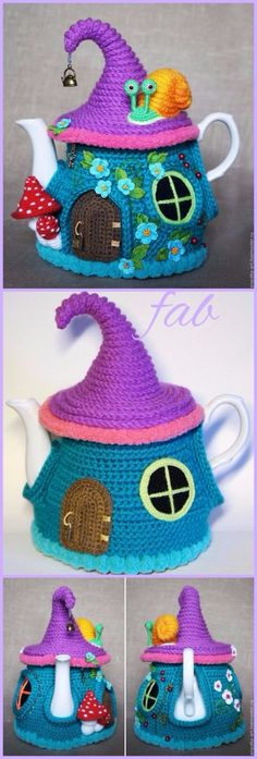 New Ideas For Crochet Free Kitchen Tea Cozy Crochet Fairy, Crochet Home, Free Crochet, Crochet Granny, Hand Crochet, Crochet Mittens Pattern, Crochet Toys Patterns, Crochet Tea Cosy Free Pattern, Scarf Patterns