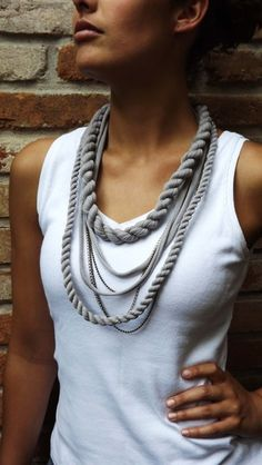 I'm almost positive that I've seen these made from upcycled t-shirt material. Love this