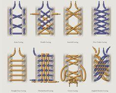 10 originales formas de amarrar tus agujetas amarrar. Black Bedroom Furniture Sets. Home Design Ideas