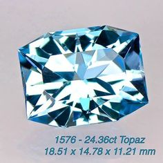 01576 - 24.36ct Swiss blue Topaz - Brazil 18.51 x 14.78 x 11.21 mm clean, custom cut, irradiated , $325 shipped
