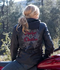 Harley-Davidson® Womens Solstice 3-in-1 Black Leather Jacket
