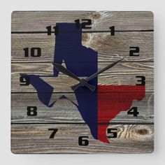Rustic Texas on Authentic looking wood Square Wall Clock - Driftwood 4 Us Art Pictures, Art Images, Rustic Wall Clocks, Wood Square, Driftwood Art, Wood Grain, Art For Sale, Art Projects, Texas