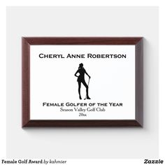 Female Golf Award