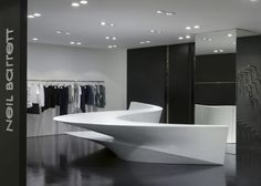 Zaha Hadid designs string of new boutique shops in Seoul for fashion designer Neil Barrett.