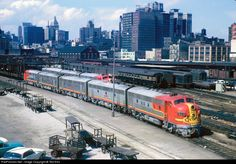 RailPictures.Net Photo: ATSF 311 Atchison, Topeka & Santa Fe (ATSF) EMD F7(A) at Chicago, Illinois by Ted Ellis