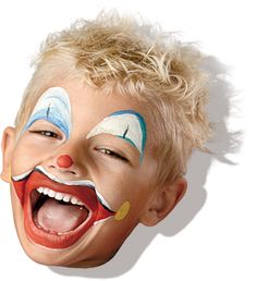 Aqua Face Paint #Clowny #facepaint #clown #schmink