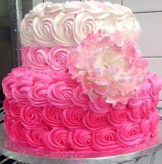 30th Birthday Cake 30 Birthday Cake, Grandma Birthday, 26th Birthday, Birthday Parties, Birthday Ideas, Cupcakes, Cupcake Cakes, Girls Tea Party, Rosette Cake