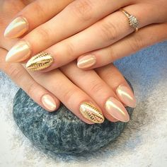 #nails #gold #astec #shine