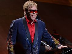 Elton John is pictured on March 6, 2015 in Miami, Florida