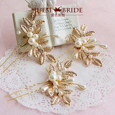 星風尚巧楓金色手工發簪漢服配飾古典飾品發飾古裝頭飾韓版簪子
