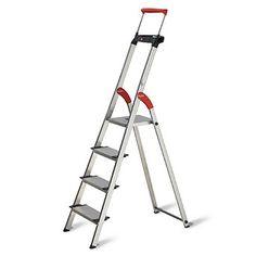 Null 4 Step Steel Skinny Mini Step Stool Ladder With