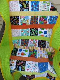 Eye Spy Quilt for Boy or Girl, animal quilt, colorful quilt with bright colors by Debsquiltsareloved on Etsy