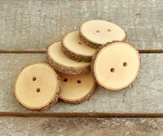 Wood Buttons 6  handmade Walnut  tree branch by forestinspiration, $8.00