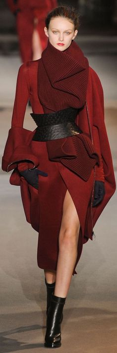 Haider Ackermann Fall 2012--gorgeous coat no matter what runway season #winter #cool #reds