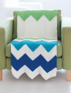 Yarnspirations.com - Caron Zigzag Blanket - Patterns | Yarnspirations