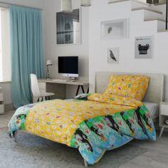 Dětské povlečení žluté modré zelené krteček krtek Bed, Furniture, Home Decor, Decoration Home, Stream Bed, Room Decor, Home Furnishings, Beds, Home Interior Design