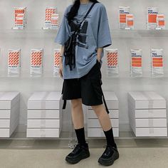 Boyish Outfits, Tomboy Outfits, Retro Outfits, Grunge Outfits, Trendy Outfits, Ulzzang Fashion, Tomboy Fashion, Streetwear Fashion, Fashion Outfits