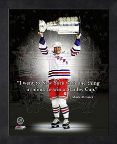 Mark Messier, NY Rangers, Stanley Cup poster