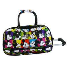 Disney - DIS076 Mickey Expressions Wheeled Duffle Mickey Mouse Luggage 48a39c65fd2d6
