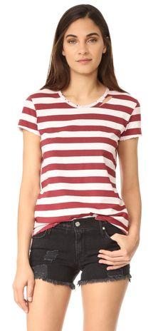 4bb223df8483 RtA Nicola Stripe Tee | SHOPBOP Striped Jersey, Striped Tee, Short Sleeve  Tee,