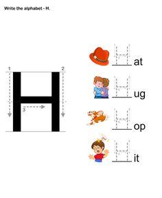 Letter Writing H - esl-efl Worksheets - preschool Worksheets